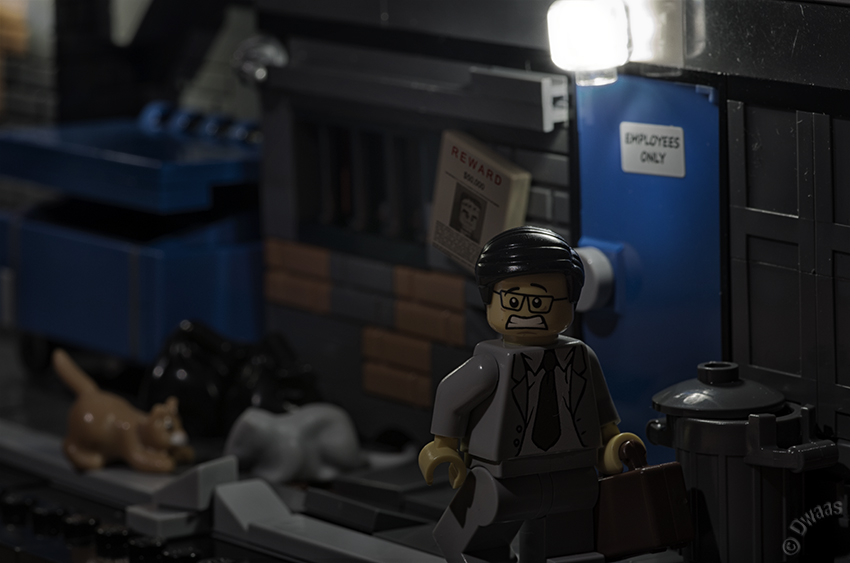 lego back alley scared
