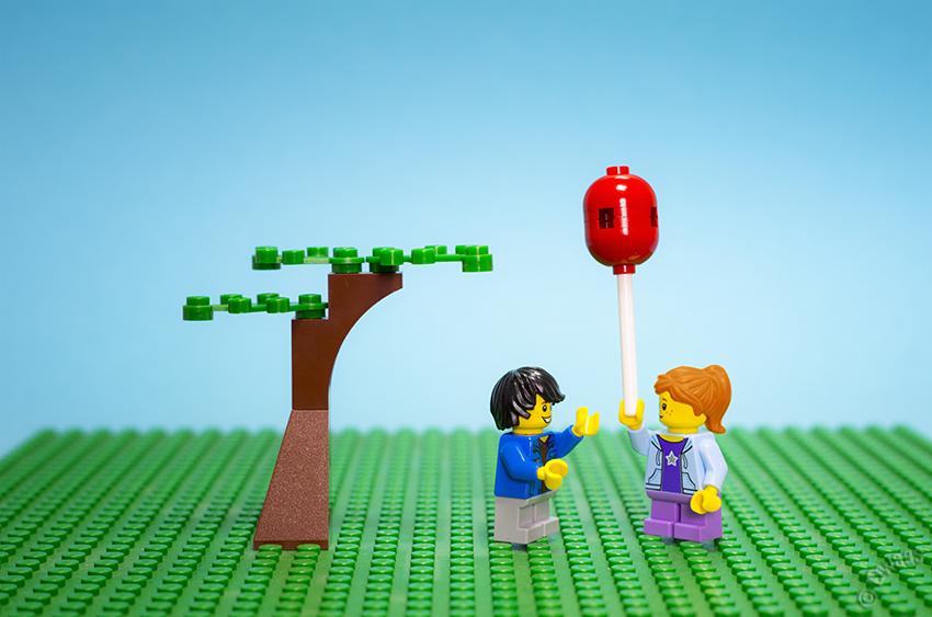 Life under a tree, circle of life, Lego