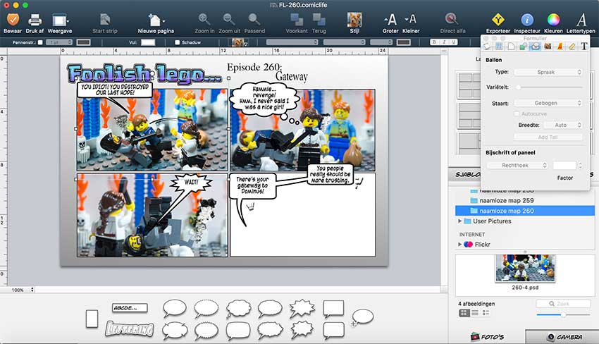 workflow chapter 1 lego comic