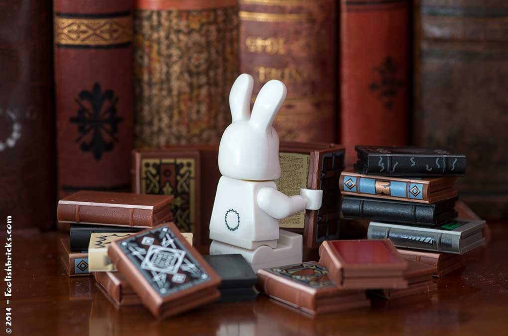 Bunny reading books bookworm
