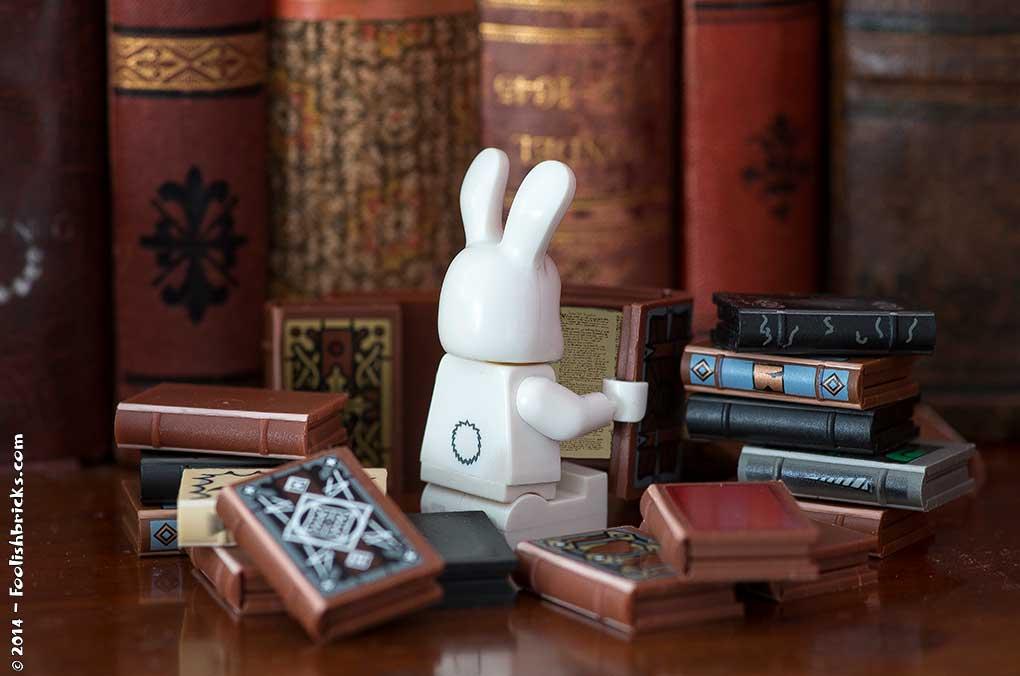 Bunny reading books bookworm