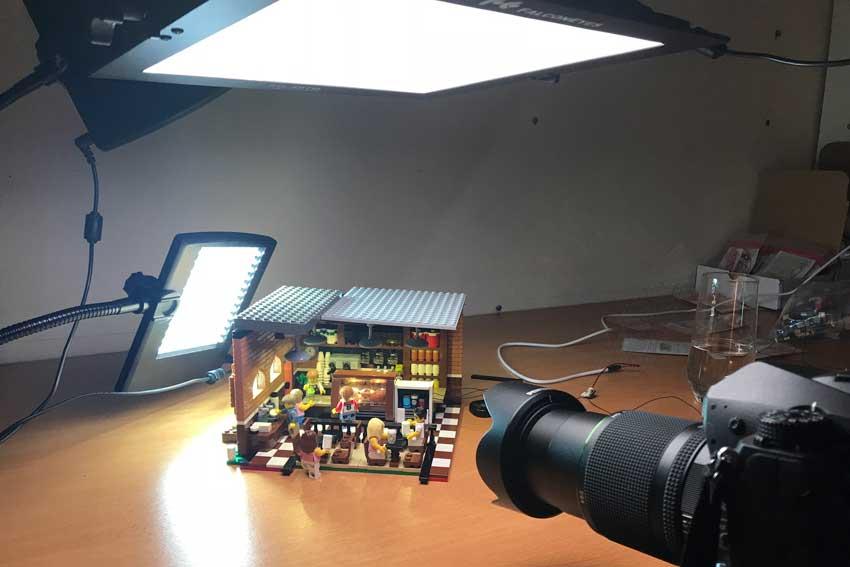 lighting Setup example lego toy photography