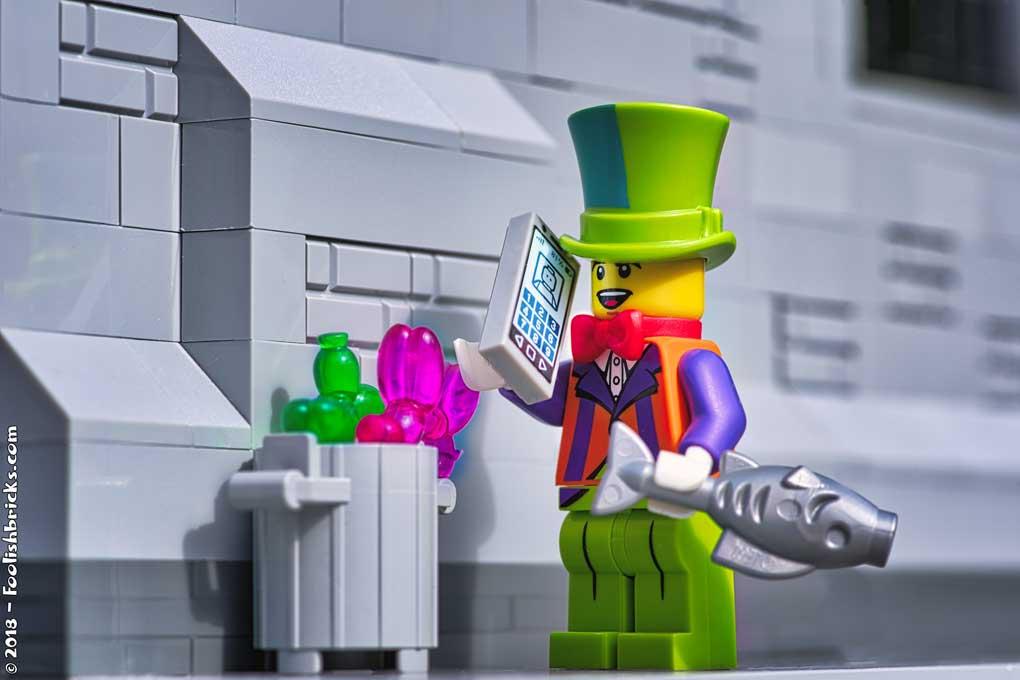 Lego photography - Grumpy clown