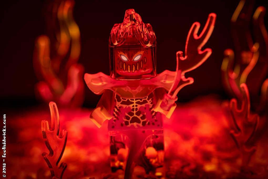 Lego photography - fire hell devi