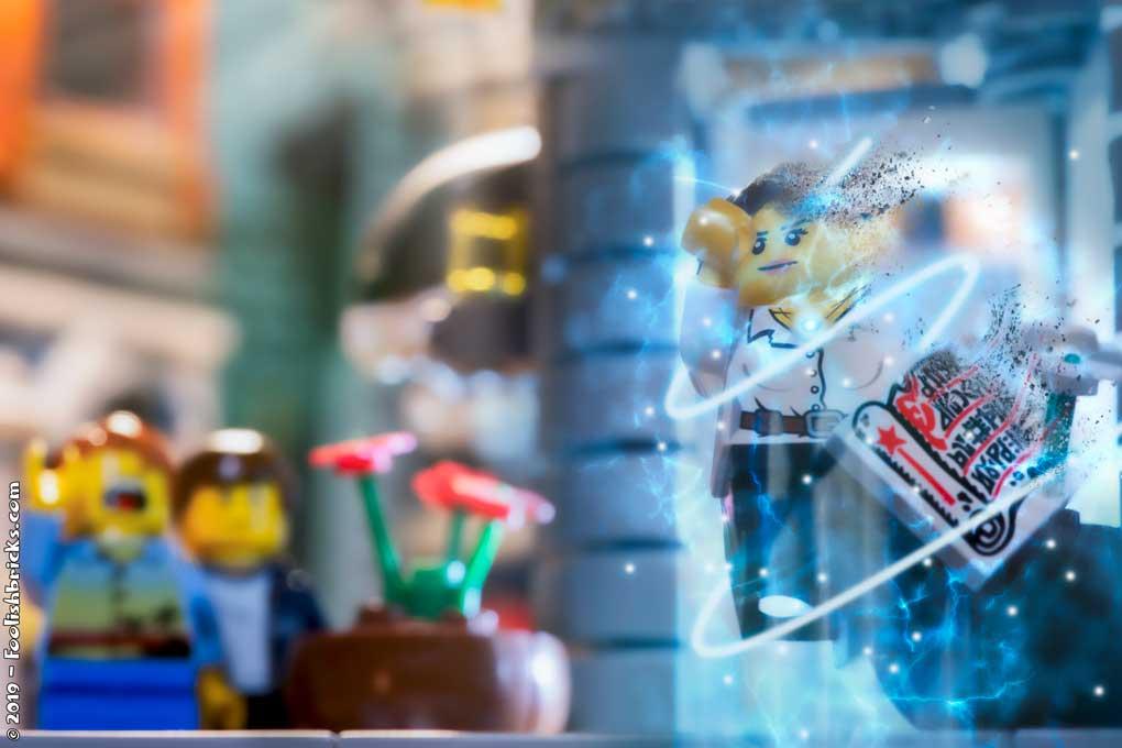 Lego dispersion photoshop teleport effect