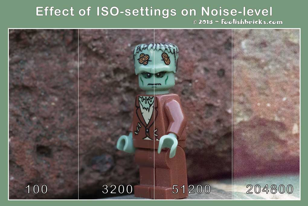 example iso noise levels lego photography
