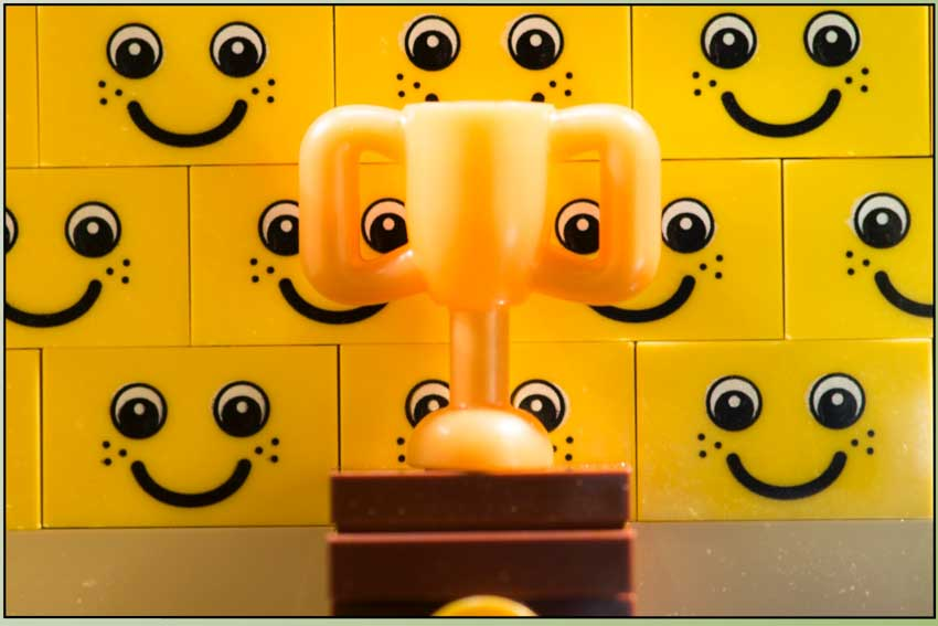 Example close-up object lego comic