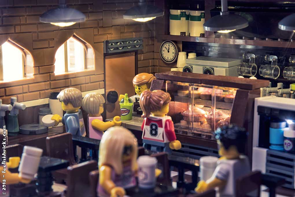 Lego photography - coffeeshop