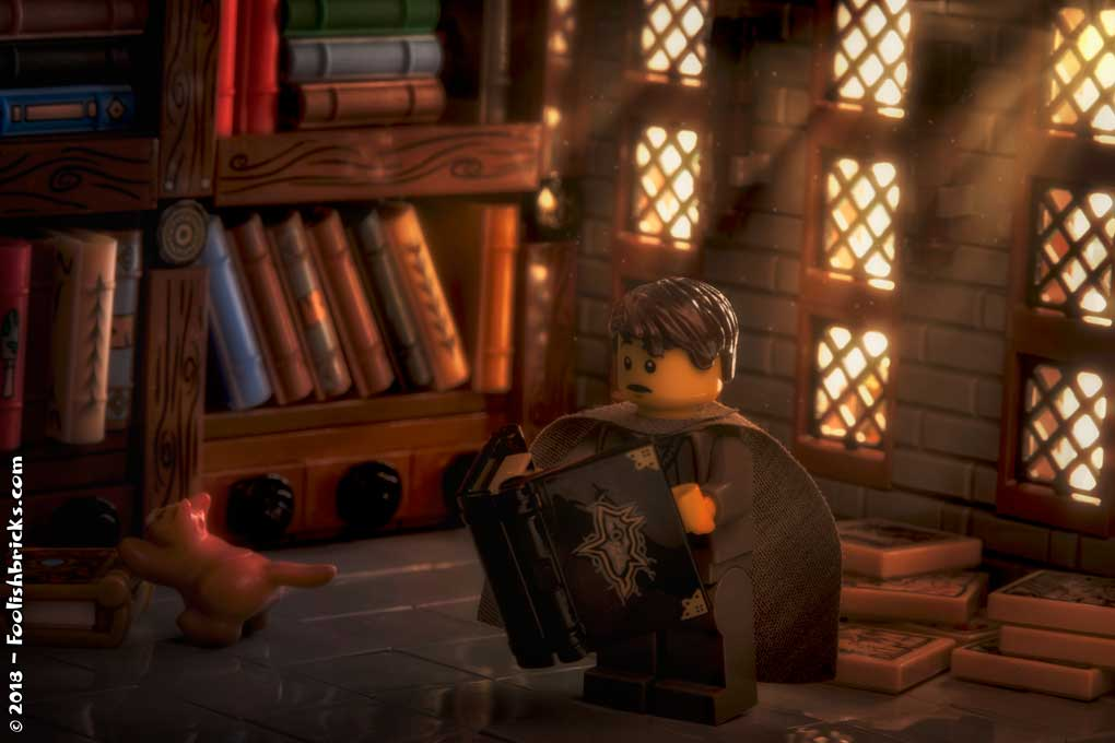 Lego photography - medieval library