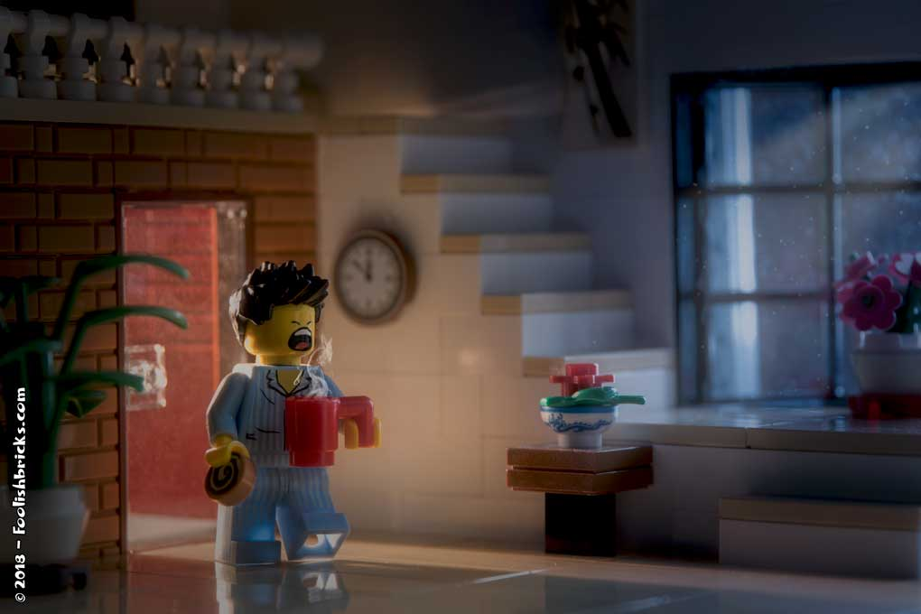 Lego photography - midnight snack dark house