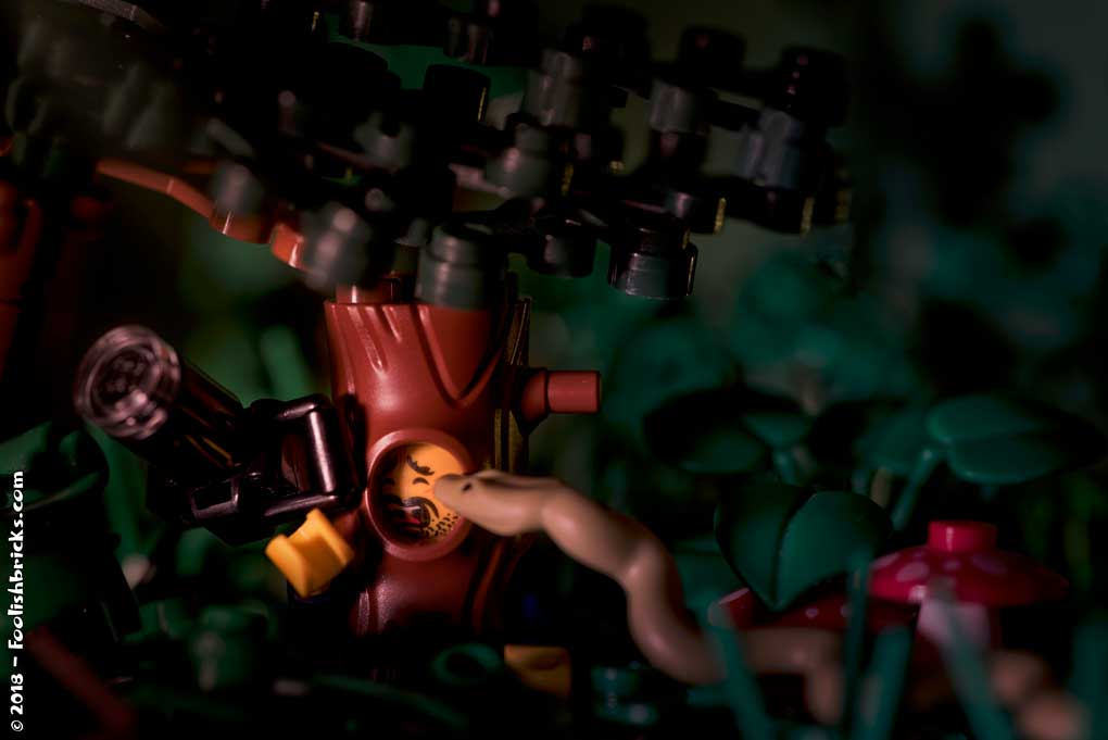 Lego photography - nature photography gone wrong snake