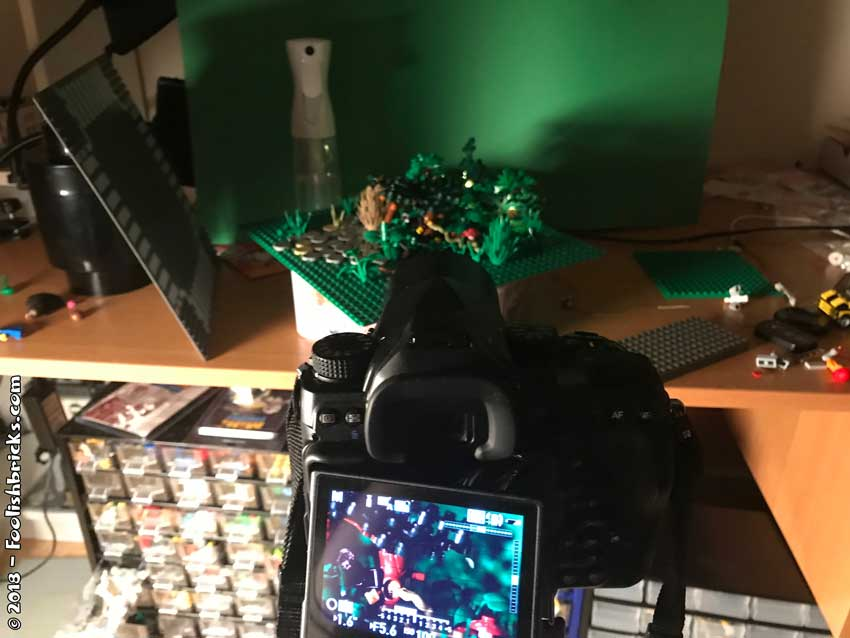 Lego photo lighting setup