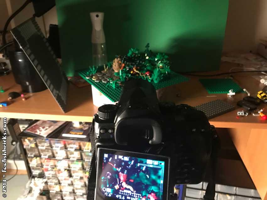 Lego photo lighting setup