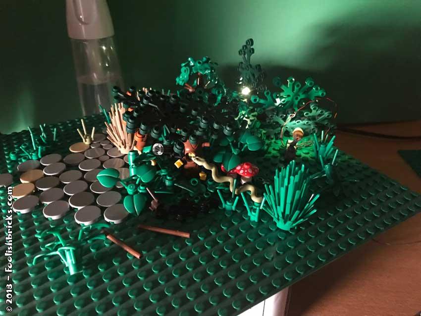 Lego photo setup close-up