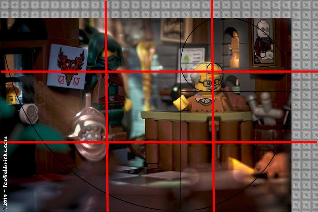 Toy photography composition fibonacci golden ratio