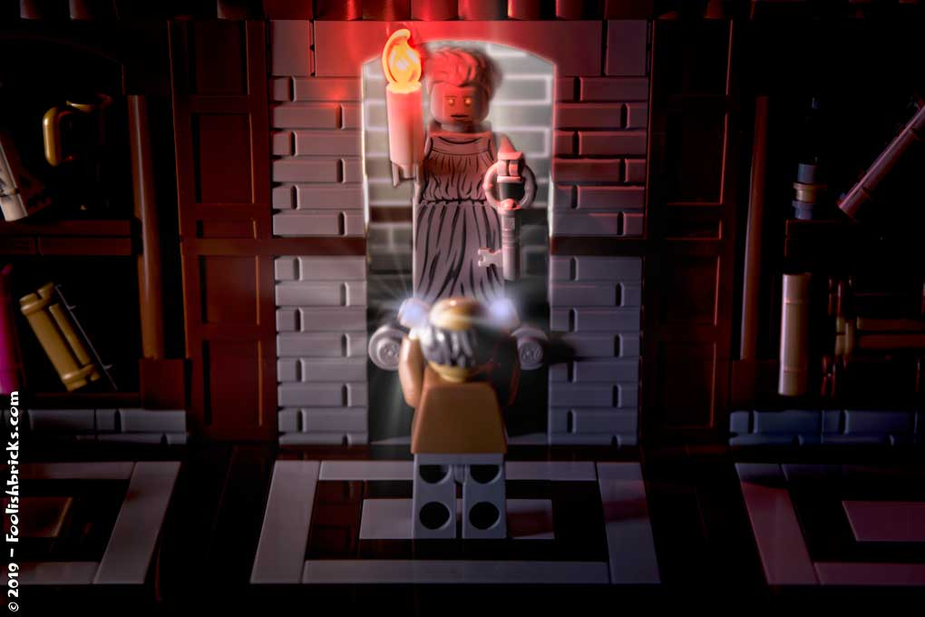 lego opening secret door