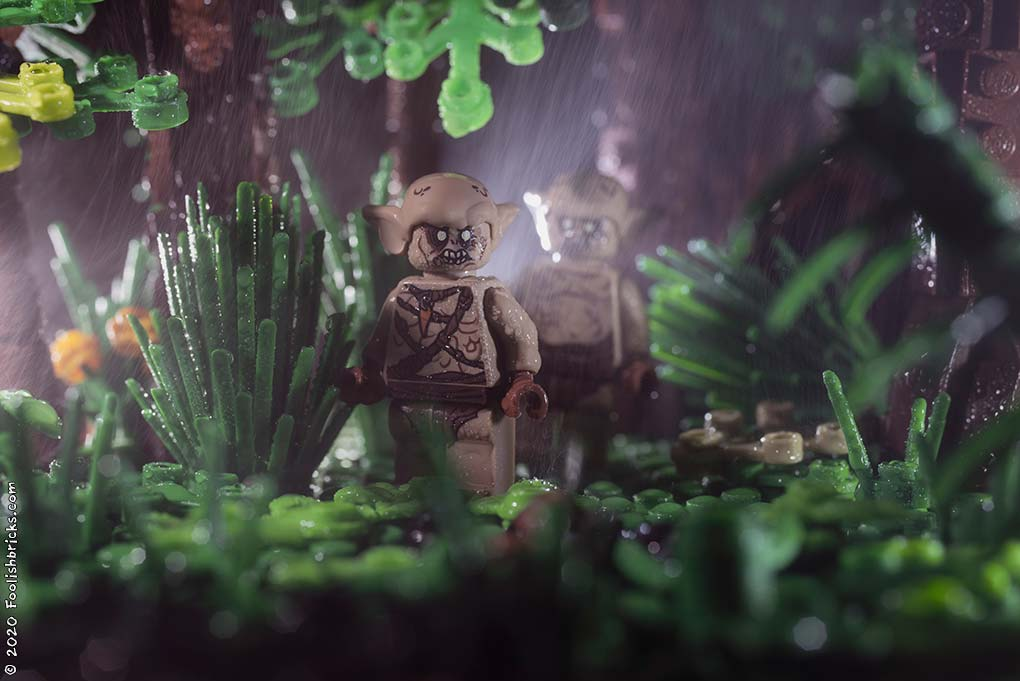 brick photography - Monsters in the forest on a rainy night