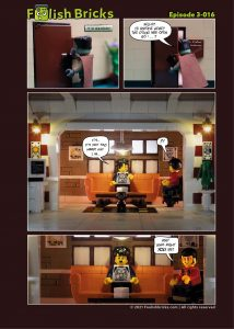 Brick Comic - Is there anybody in there?