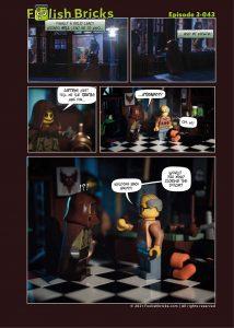 Brick comic - close the door